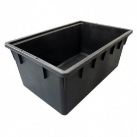 Black Rectangular Container 160L