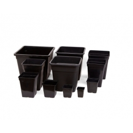 Square Pot (Black) (22 X 22 X 26 CM) (11 L)
