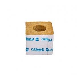 Taco de lana de roca (7,5 X 7,5 X 6,5 CM) (Ø28 x 35mm)