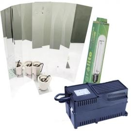 Kit HPS Agrolite 400W Balastro Clase 2 con Reflector de Ala Liso
