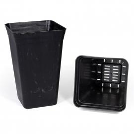 Maceta Antiestrés Negra (26x26x40cm) (18 L)