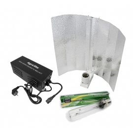 KIT GRO & FLO Agrolite HPS250W Plug & Play w / cocked wing reflector