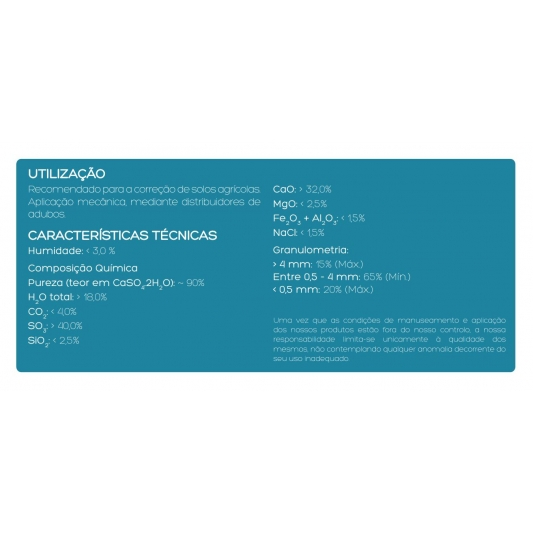 Sival Yeso Agricola Grueso 25 KG (Gypsum)