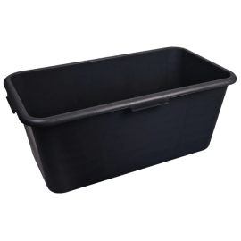 Black Rectangular Container 80L