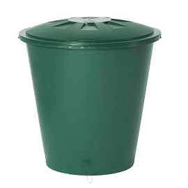 Round Green Container 200L