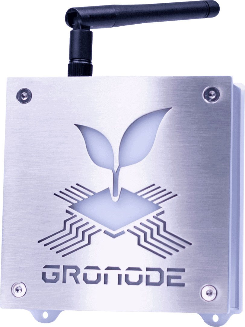 Front view of GroNode, the core module (brain) of the GroLab™ grow controller