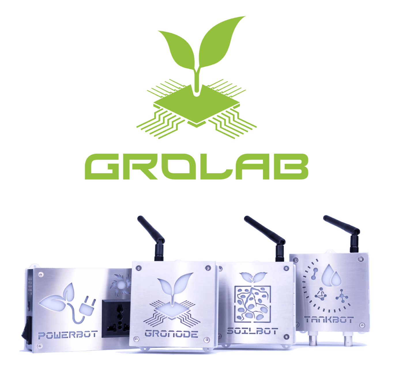 GroLab™ the grow controller created by Open Grow™ - Featuring GroNode, PowerBot, TankBot and Soilbot