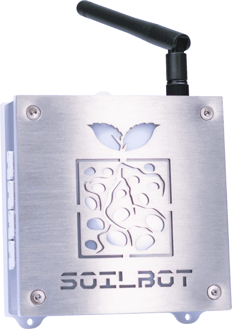 Front view of SoilBot, the substrate analyzer module of the GroLab™ grow controller