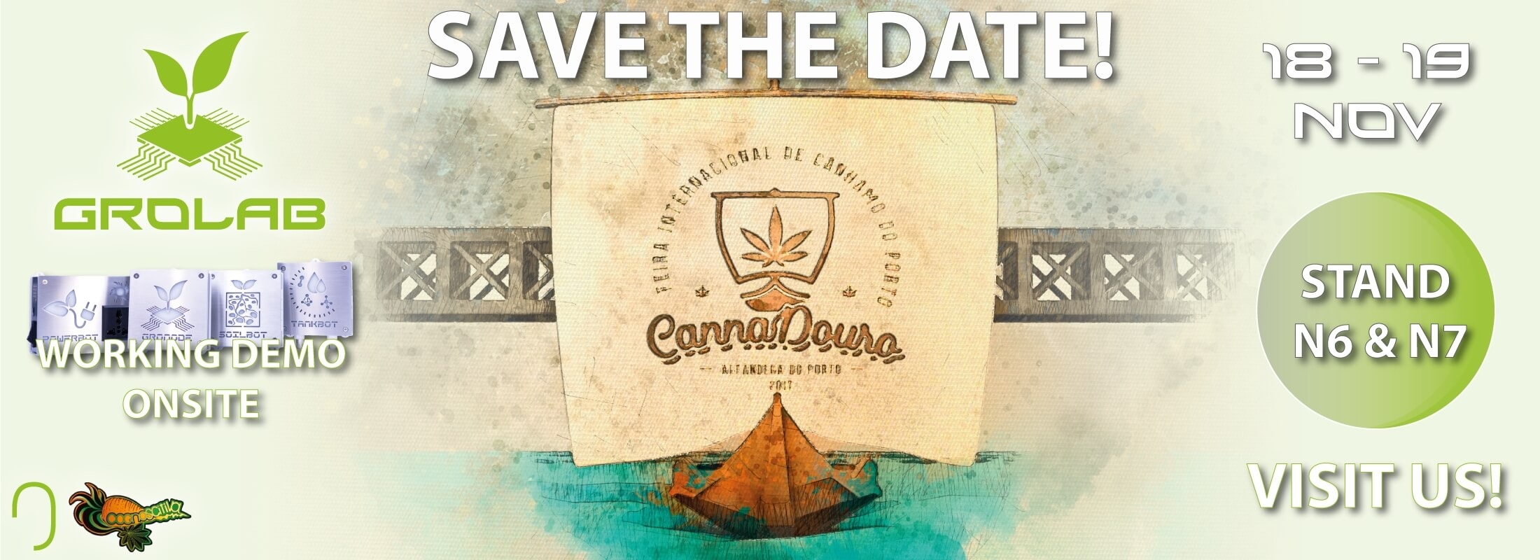 Open Grow™ and GroLab™ will be present at CannaDouro 2017, Porto, Portugal - November 18-19 - Stand N6 and N7 with Cognoscitiva