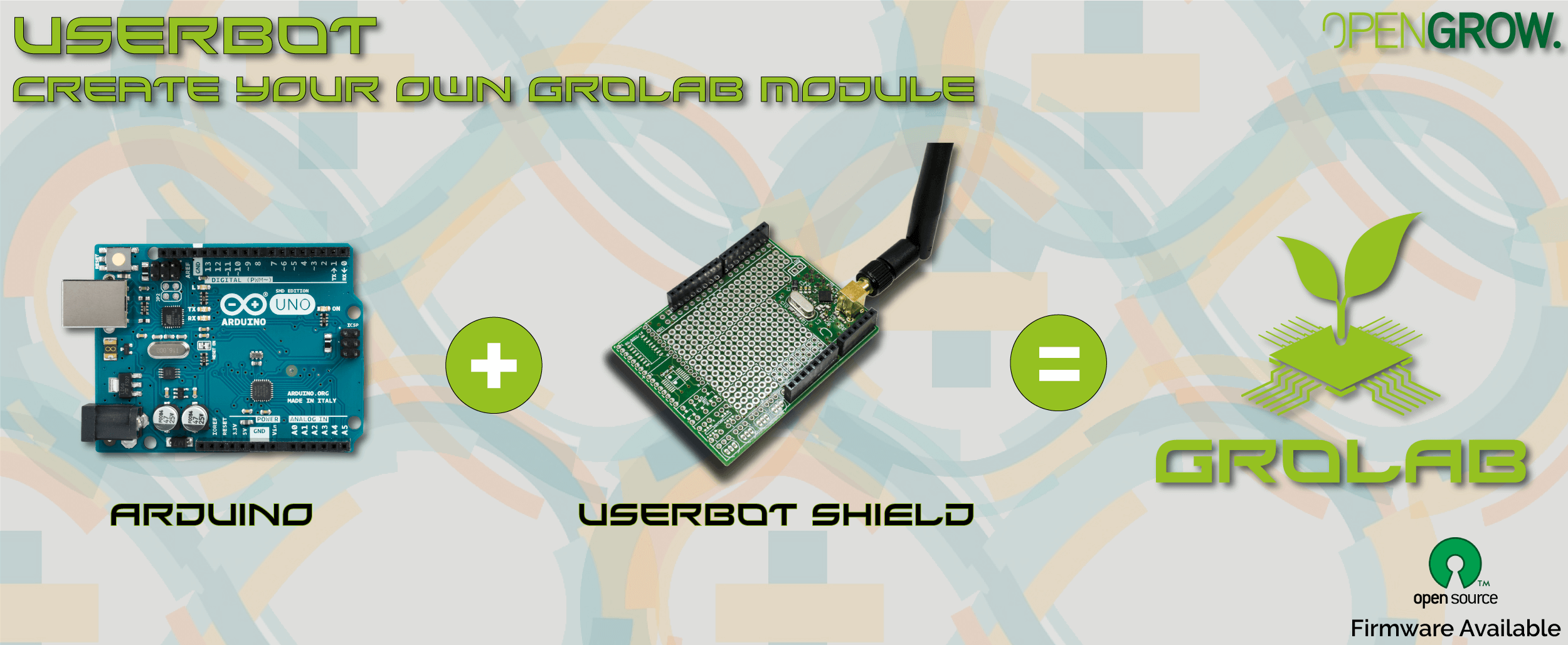 Creat your own GroLab module using our grow controller UserBot
