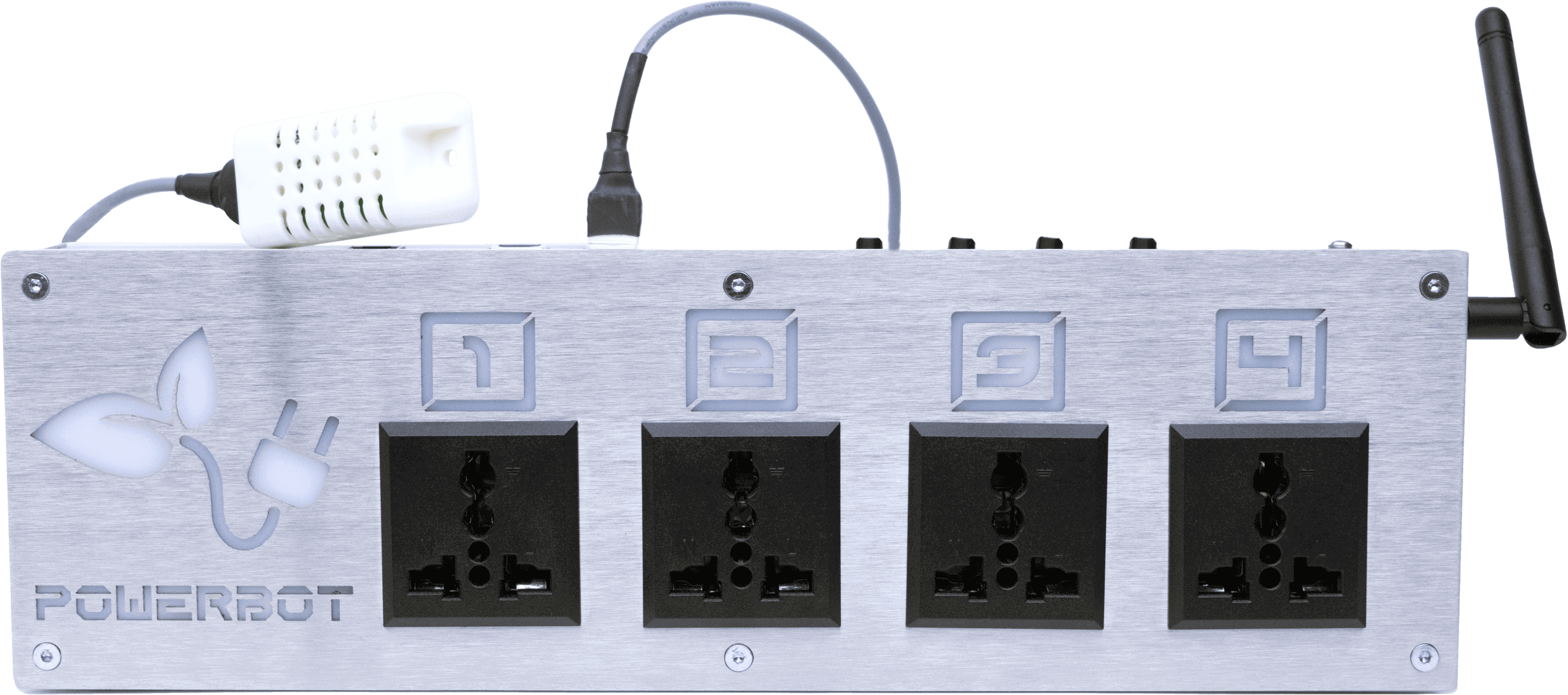Front view of PowerBot, the power supplier module of the GroLab™ grow controller