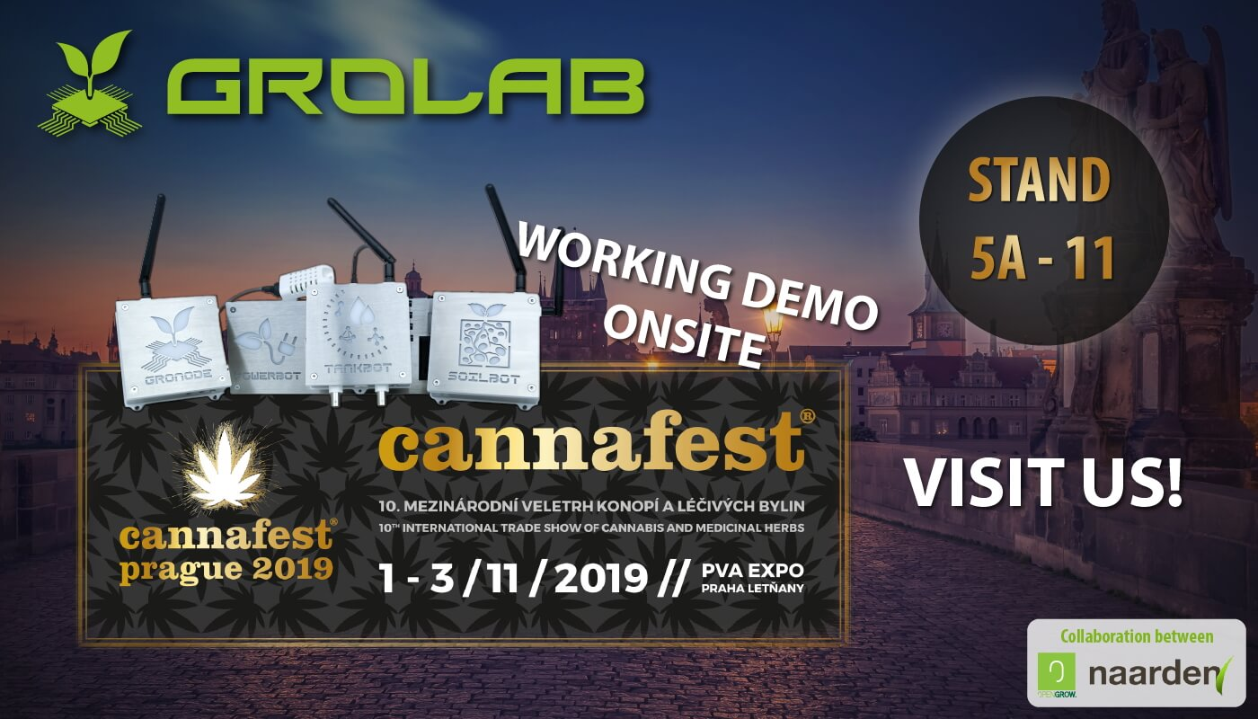 Open Grow™ will be present at Cannafest 2019, Prague, Czech Republic - November 1-3